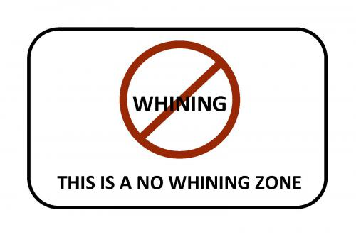don't be a whiner at work
