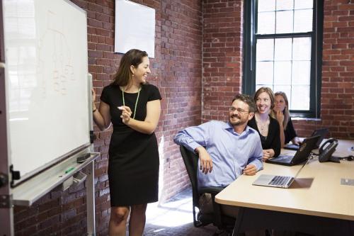 share leadership at staff meetings